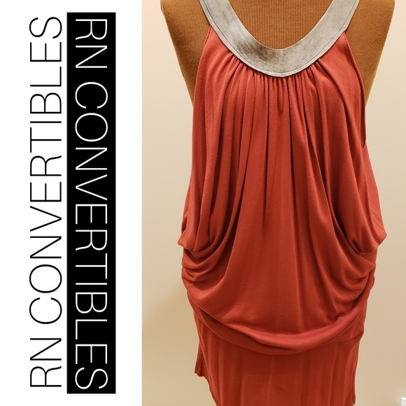 RN CONVERTIBLES Dresses & Skirts - RN CONVERTIBLES Open Shoulder Dolman Sleeve Dress